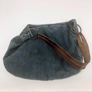 American Eagle 🦅 Vintage Blue Corduroy Purse/Bag
